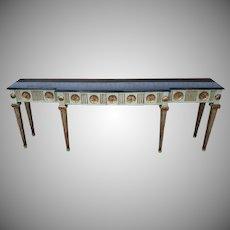 Fine Antique Italian Venetian Style Black Marble Top Console Table c1900