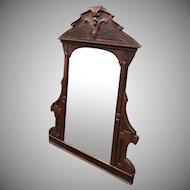 Antique Victorian Eastlake Style Rosewood Bedroom Dresser Mirror c1880