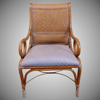 Very Fine Quality Rattan ~ Bamboo Regency Style Armchair late 20th Century