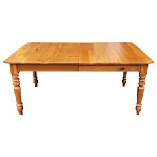 Ethan Allen Farmhouse Pine Country Dining Room Tavern Table w/ 2 leaves