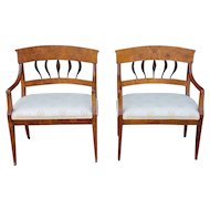 Rare Pair 19th Century Biedermeier Petite Hallway ~ Bedroom Benches c1820s