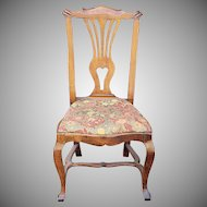 Antique Early 19th Century Georgian Chippendale Style Mahogany Side Chair c1820