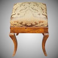 Antique 19th Century Biedermeier Style Upholstered Footstool c1820