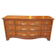 1990s Drexel Heritage Satinwood Hand Painted Adams Style Devoncourt Bedroom Dresser