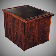 Great 1960s Rosewood Danish Modern Furniture Makers Control Pop Up Bar Cabinet Table Cart