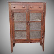 Antique Pine 19th Century Primitive Pie Safe Jelly Cupboard Cabinet