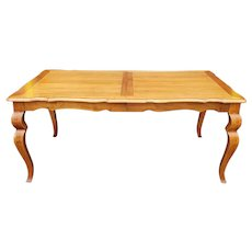 Ethan Allen Legacy Collection Dining Room Table & 2 Leaves Model 13-6414