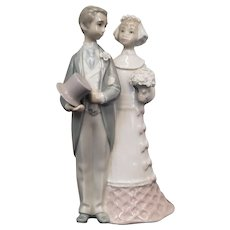 Lladro Porcelain Figurine #4808 ~ Bride & Groom ~ Wedding Couple