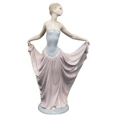 "Vincent Martinez Lladro Figurine ""Dancer"" in Pink Dress #5050 1980s"