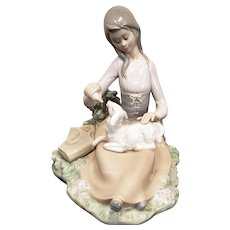 "Jose Roig Lladro Porcelain Figurine #1312 ""Little Bo Peep"" 1980s"