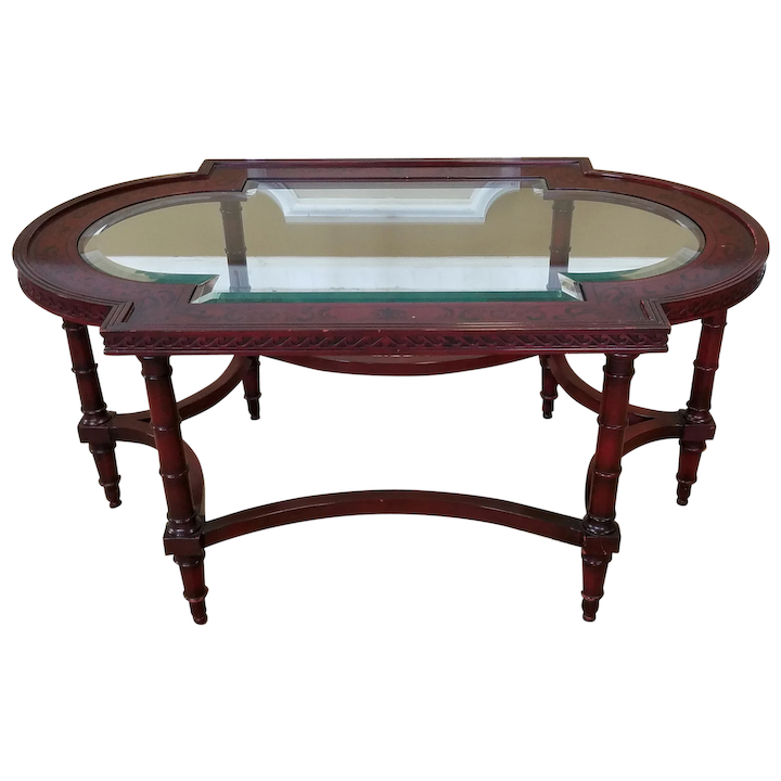 Miraculous John Widdicomb Neo Classical Style Painted Glass Top Cocktail Coffee Table C1990S Bralicious Painted Fabric Chair Ideas Braliciousco