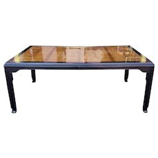 Fine Raymond K Sobota for Century Furniture China Hua Asian Parsons Table w/ 2 Leaves 1980s