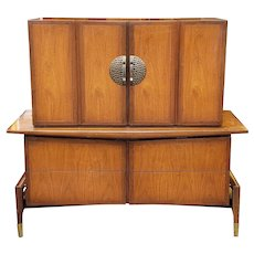 Mid Century Asian Modern Hobey Helen For Baker Furniture Walnut Bedroom Chest