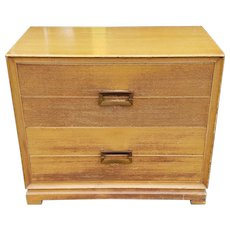 Vintage 1950s Blonde Mahogany Red Lion Table Co Mid Century Modern 4 Drawer Chest