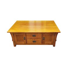 Kincaid American Artifacts Collection Oak Arts & Crafts Mission Style Living Room Coffee table c1990s
