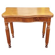 Antique American Empire Flip Top Mahogany Console Game Table c1860