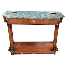 AS IS 1970s Grosfeld House Furniture Marble Top Neoclassical Hallway Credenza Table