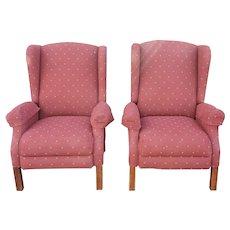 Clean Pair La Z Boy Ferguson High Leg Reclining Chairs #028915