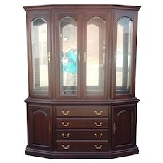 Crawford Of Jamestown Furniture Company Cherry Queen Anne Dining Room China Cabinet