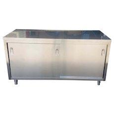 Design Within Reach Giulio Lazzotti Designed Quovis Stainless Steel Credenza c1990s