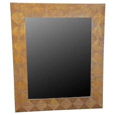 Large Gilt Wood Decorative Harrison & Gil Dauphine Hanging Wall Mirror c1990s