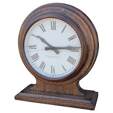 Fantastic 1920s The Standard Electric Time Co. Oak Case Double Face School ~ Train Station Clock