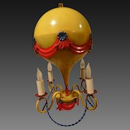 Italian Toll Chandelier French Hot Air Balloon Circa 1950's