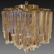 Venini Design for Camer Flush Mounted Ceiling Fixture circa 1960's
