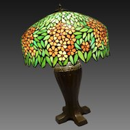Handel Leaded and Stained Glass Table Lamp circa early 20th c