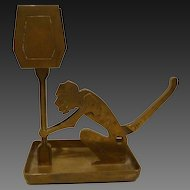 Art Deco Era Brass Figural Cigar Cutter/ Matchbox Holder/Monkey