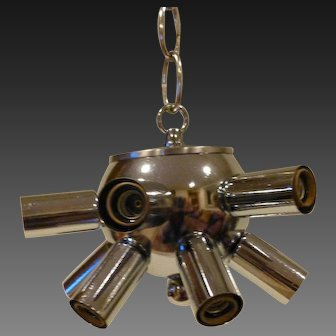 Sputnik Chrome 12 Light Pendant circa 1960's-70's