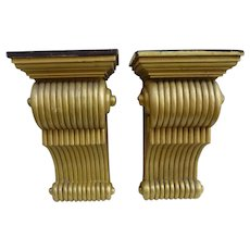 Antique Pair of large Mahogany Corbels c 1880-1900 (2 pairs Available)