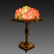 Authentic Pairpoint Puffy Rose Blossom lamp