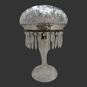 Pairpoint Cut Glass Table Lamp,Circa 1890's