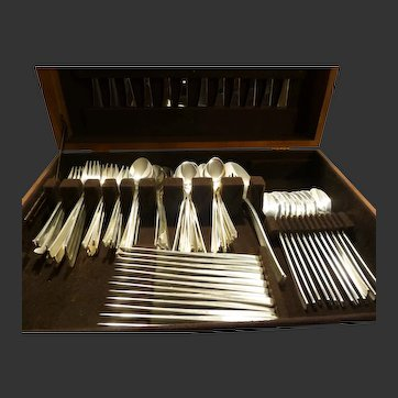 International Silver Co, Sterling,Mid Century  Vision Pattern , Service for 12 with Serving Pieces