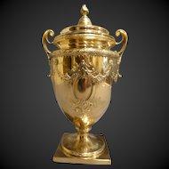 Sterling Silver,Gold Washed Covered Urn Black Starr & Frost