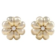 18K Yellow Gold Diamond Lee Havens Earrings