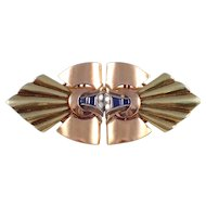 J.E. Caldwell 14k Yellow and Rose Gold Retro Clips