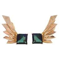 Tiffany and Company 14k Yellow Gold Retro Earrings