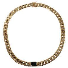 18K Yellow Gold Tourmaline Necklace
