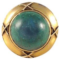 18k Yellow Gold Malachite Ring