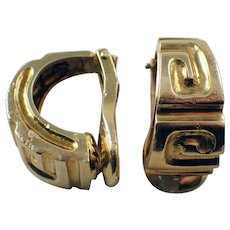 French 18 Karat Yellow Gold Hoop Earrings
