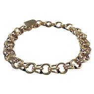 Mid Century 14k Yellow Gold Charm Bracelet