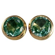 18k Yellow Gold Synthetic Spinel Earrings