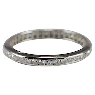 Art Deco Platinum Diamond Band