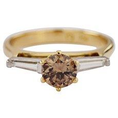 18k Yellow Gold Diamond Engagement Ring