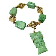 18k Yellow Gold Malachite Bracelet