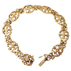French Art Nouveau 18k Yellow Gold Bracelet