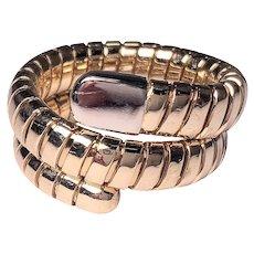 18k Yellow Gold Snake Ring