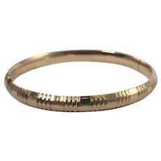 14k Yellow Gold Bangle Bracelet